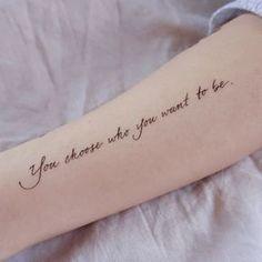 Calligraphy.Love Yourself Tattoo Minimal