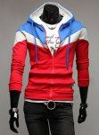 Casual Style Hooded Fashion Color Splicing Slimming Long Sleeves Men's Hoodie