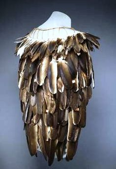 Artist not known, Wailaki tribe, condor feather cape, late 1800s. Denver Art Museum; Native Arts acquisition fund.