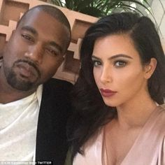 Missing her love: Kim tweeted this picture with Kanye for her 'MCM' (Man Crush Monday) thi...