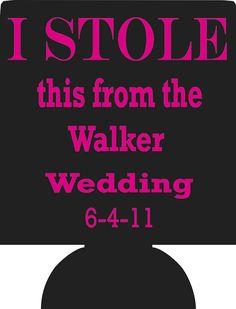 Wedding Koozies Personalized lot of 50 by odysseycustomdesigns