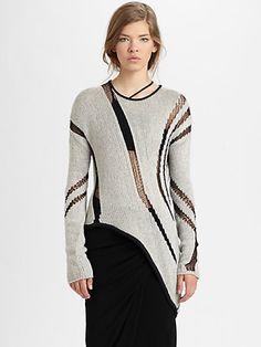 Helmut Lang - Asymmetrical Cutout Sweater - Saks.com