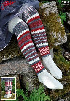 Knit it in our Mellanraggi. Woolen Socks, Sexy Socks, Slipper Boots, Knee High Socks, Crochet Accessories, Leg Warmers, Fingerless Gloves, Knit Crochet, Tights