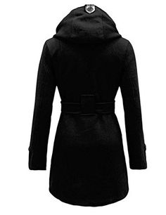 ANDI ROSE Fashion Womens Warm Winter Hooded Long Section Jacket Coat S Black ** Want additional info? Click on the image.