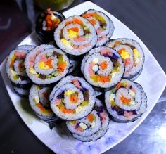 예쁜 봄 소풍 도시락 메뉴 회오리 김밥 만드는 방법