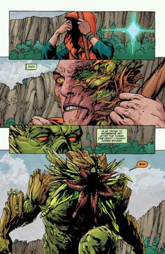 Avatar fight! Seeder vs Holland in Swamp Thing #25