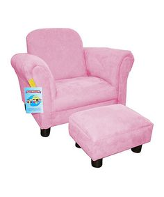 Look what I found on #zulily! Pink Deluxe Chair & Ottoman by Newco #zulilyfinds