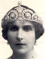 Queen Victoria Eugenie  (Ena) of Spain in her Cartier tiara, made 1920