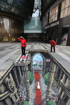 JOE & MAX travel the world creating 3D street paintings and drawings. It's said they can complete this size of work in one day!