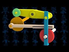 Intermittent with Rack and Cam Mechanism 3D Model - YouTube