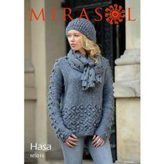 Cable Sweater in Mirasol Hasa (M5016) Digital Version £2.49