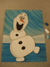 """This is a perfect winter art lesson for all the """"Frozen"""" fans out there. My Grade 3 students loved this project! To start off, I put a ..."""
