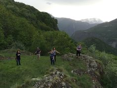 Interns Hiking the French Countryside