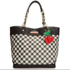 Betsy Johnson Gingham Purse Tote