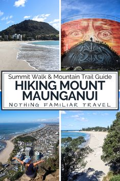 Guide to hiking Mount Maunganui New Zealand. The short Mount Maunganui hike ended up being one of our favorites in New Zealand. Our guide to hiking Mount Maunganui New Zealand has all you need to know about the many Mount Maunganui hiking trails, and how to do the famous summit walk for sunset.