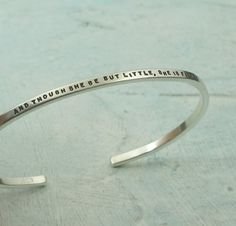 Shakespeare Bracelet  And Though She Be But by KathrynRiechert, $48.00