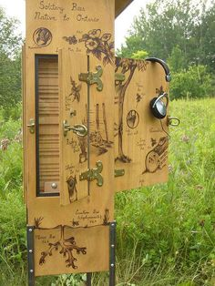 I LOVE and want to create one of these! - Pollination Wunder Station (side view) by Solitary Dream Homes (for Toronto Bees)