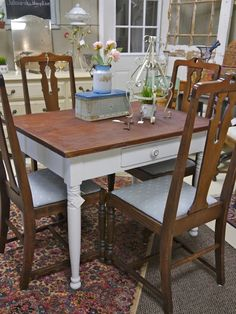 Small Farm Table With Drawer