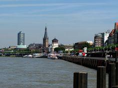 Rhein Promenade in Dusseldorf. Our tips for things to do in Dusseldorf: http://www.europealacarte.co.uk/blog/2011/02/17/things-to-do-in-dusseldor/