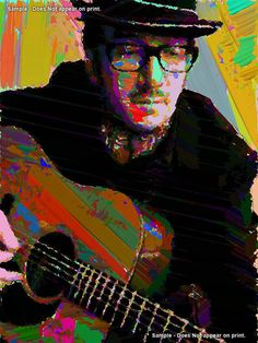 ELVIS COSTELLO   Rock and Roll Pop Art Giclee Print by EisnerArt, $14.00