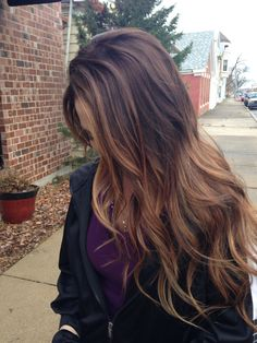 Dark brown hair color ideas 2018 caramel balayage mainly ground-breaking and inspired hair coloring ideas constantly Hair Color 2017, Brown Hair Colors, Brunette Hair, Hair Highlights, Gorgeous Hair, Hair Looks, Dyed Hair, Hair Inspiration, Hair Inspo