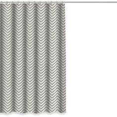 Sale $24.99 Chevron Shower Curtain in Grey