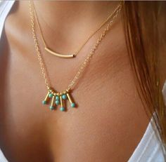 Purchase Gold Plated Bar Turquoise Charm Pendant Necklace from Malala Jewelry Aissaoui on OpenSky. Colar Lariat, Lariat Necklace, Necklace Set, Gold Necklace, Pendant Necklace, Earrings, Fashion Jewelry Necklaces, Fashion Necklace, Women Jewelry