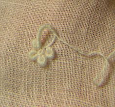 Embroidery Stitches Tutorial Southern Matriarch: You asked for it-Bullion loop flowers Bullion Embroidery, Embroidery Stitches Tutorial, Hand Embroidery Designs, Embroidery Techniques, Ribbon Embroidery, Cross Stitch Embroidery, Embroidery Patterns, Diy Bordados, Brazilian Embroidery