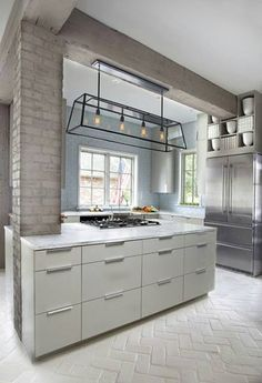 Modern-country-industrial kitchen place