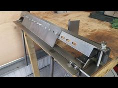 Home Made Box Pan Brake for bending sheet metal Sheet Metal Bender, Sheet Metal Brake, Sheet Metal Tools, Sheet Metal Work, Metal Bending Tools, Metal Working Tools, Conduit Bending, Bending Wood, Metal Projects