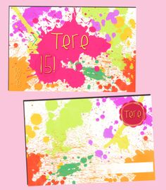 Mancha de pinturas Girls birthday - Fifteen's Card - Cumple 15 invitación