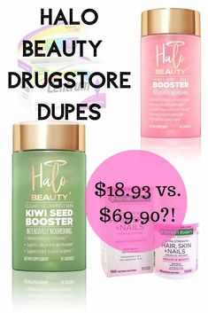 Halo Beauty Dupe: Alternatives for Kiwi + Hair, Skin, Nails Booster products best products drugstore products must have products natural products that really work Beauty Dupes, Beauty Products, Drugstore Beauty, Natural Products, Beauty Nails, Acne Makeup, Makeup Dupes, Work Hairstyles, Sensitive Skin Care