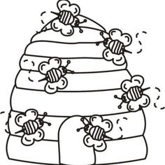 bee-home-coloring-page coloringpagesfortoddlers.com