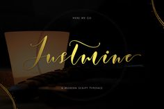 Justmine Modern Script by Siwox Core LineType on @creativemarket