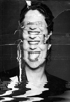Carlos Cruz aka Conehorror (Brazilian, b. Glitch Kunst, Glitch Art, Distortion Photography, Portrait Photography, Photomontage, Princesa Punk, Abstract Illustration, Photographie Portrait Inspiration, A Level Art