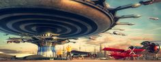 evgeny kazantsev imagines technological futurescapes in his 'legacy mode' series