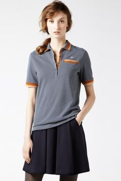 Lacoste Short Sleeve Tipped Supple Pique Polo : Just Added
