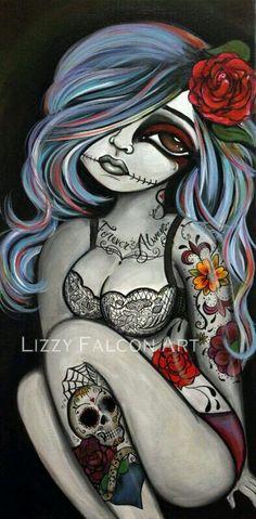 dia de muertos wallpaper by - - Free on ZEDGE™ Wallpaper Caveira, Body Art Tattoos, Girl Tattoos, Tatoos, Sugar Skull Girl, Sugar Skulls, Et Tattoo, Lion Tattoo, Day Of The Dead Art