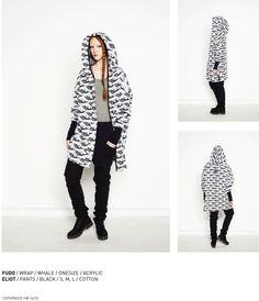 nenukko.com #whale #patterned #hooded #wrap