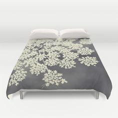 Black+and+White+Queen+Annes+Lace+Duvet+Cover+by+Erin+Johnson+-+$99.00