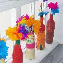 colourful flowers, kindergarten art.  blog.emmasartroom.at Kindergarten Art, Art Blog, Colorful Flowers, Crafts To Make, Floral, Room, Beautiful, Bedroom, Flowers