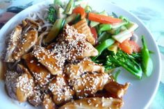 This is such an easy and amazing recipe for Sesame Chicken, found on food.com. I usually add an onion and have made it with pork which is just as good.
