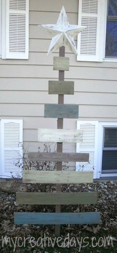 Another barn wood project! Ya know I love those! I thought it would be great to make a simple, rustic, barn wood Christmas tree for our home this year. We still have our traditional tree, but a little barn wood tree would be a nice little addition to our Christmas decorating. This was another pretty simple project to do and one that could easily be replicated with any wood you had lying around (as you will see at the end of this post). We had a piece of barn wood in the garage and a 1×2 ...