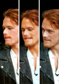 Sam Heughan and his famous lip-biting!