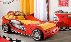 Kinderbett junge cars  Kinderbett in Rennauto-Design 90x200cm Jetzt bestellen unter: https ...