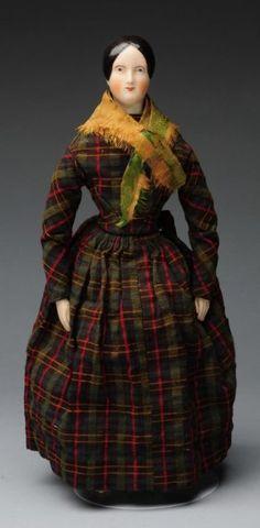 "Rare All Original 14"" China Doll With China Limbs"