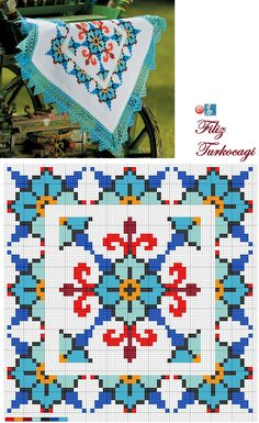 Designed and stitched by filiz türkocağı yastik cuscino p Cross Stitch Borders, Cross Stitch Flowers, Modern Cross Stitch, Cross Stitch Designs, Cross Stitching, Cross Stitch Embroidery, Embroidery Patterns, Cross Stitch Patterns, Cross Stitch Cushion