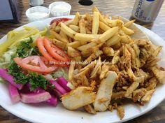 The Best Restaurants in Toronto Canada, Chicken shawarma with fries!