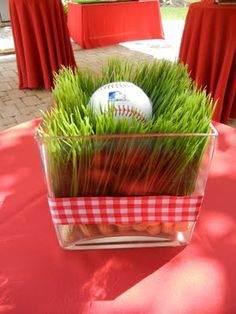 Baseball party inspiration board by Bella Bella Studios ~ Cute ideas! Softball Party, Baseball Birthday Party, Sports Birthday, Sports Party, Softball Wedding, Sports Wedding, Baseball Centerpiece, Centerpiece Ideas, Baseball Party Decorations