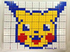 How to draw a Rubik's cube pikachu. I show you how to draw a pikachu using Rubik's Cubes. This rubik's cube mosaic is part of an ongoing Series of Rubik's Cu. Art Attack Ideas, Rubiks Cube Algorithms, Pikachu Drawing, Mosaic Art Projects, Pokemon, Pixel Art Templates, Pixel Art Games, Speed Art, Marker Art